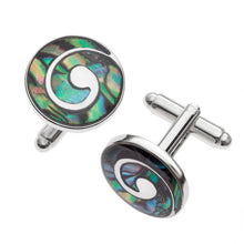 Load image into Gallery viewer, Paua Shell Cufflinks