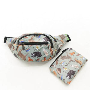 Eco Chic Foldable Bum Bag Woodland Creatures
