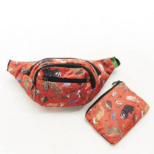 Load image into Gallery viewer, Eco Chic Foldable Bum Bag Woodland Creatures