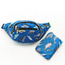 Load image into Gallery viewer, Eco Chic Foldable Bum Bag Sea Creatures