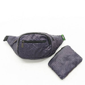 Eco Chic Foldable Bum Bag Disrupted Cubes