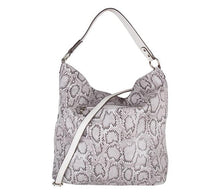 "Load image into Gallery viewer, Bulaggi ""Avery"" Snakeskin Hobo"
