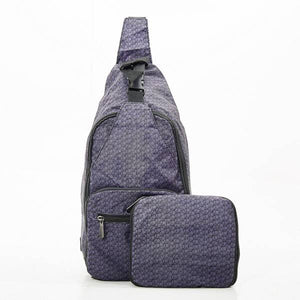 Eco Chic Foldable Cross Body Bag Disrupted Cubes