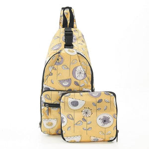 Eco Chic Foldable Cross Body Bag 1950s' Floral