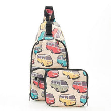 Load image into Gallery viewer, Eco Chic Foldable Cross Body Bag Camper Vans