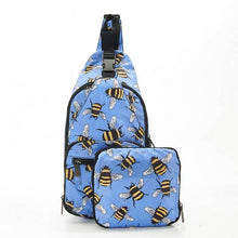 Load image into Gallery viewer, Eco Chic Foldable Cross Body Bag Bees