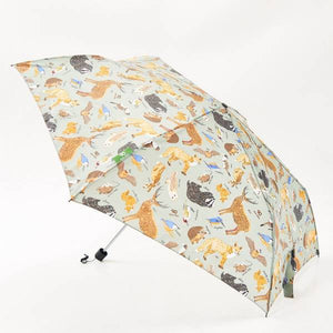 Eco Chic Compact Umbrella Woodland Creatures