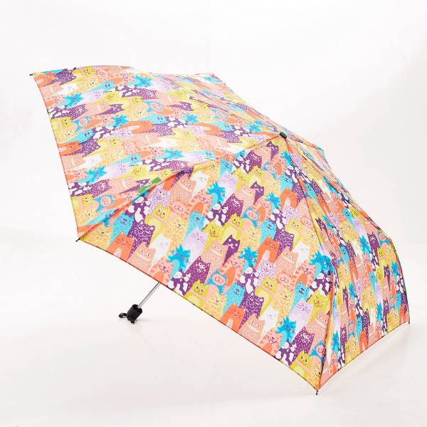 Eco Chic Compact Umbrella Cats