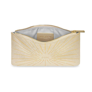 "Katie Loxton Starburst Gold print Perfect Pouch ""Choose to Shine"" - Pursenalities_uk"