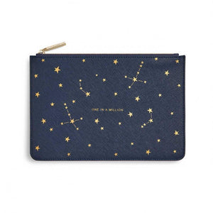 "Katie Loxton Star Print Navy Perfect Pouch ""One in a Million"" - Pursenalities_uk"