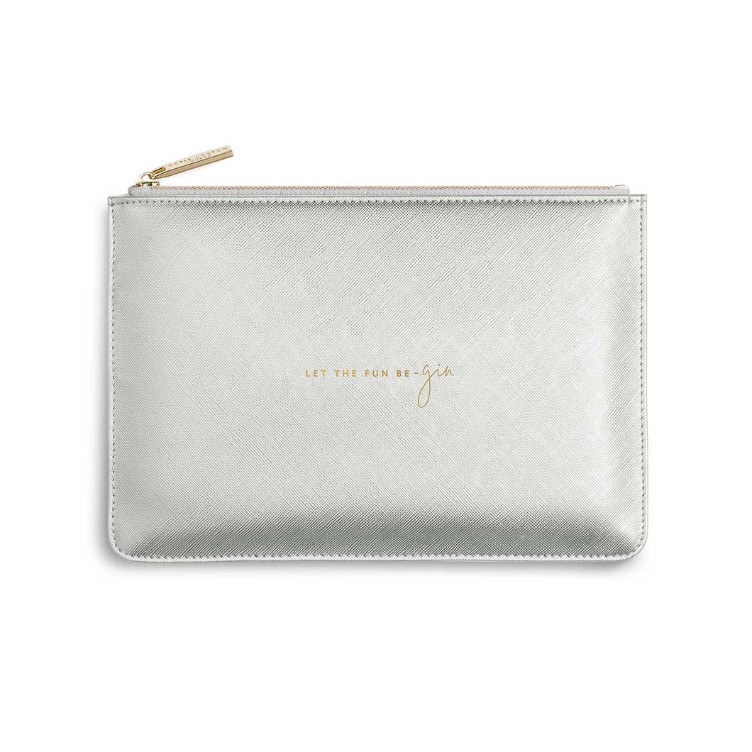 Katie Loxton Silver Perfect Pouch