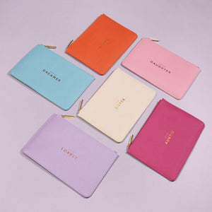 "Katie Loxton Lilac Perfect Pouch ""Hello Lovely"""