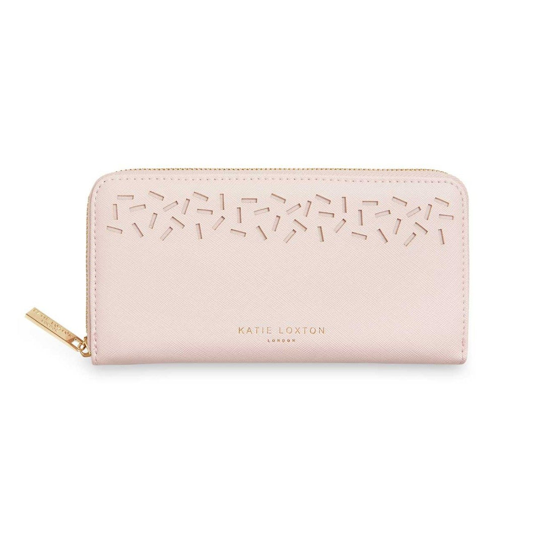 Katie Loxton Laser Cut Nude Pink Purse - Pursenalities_uk