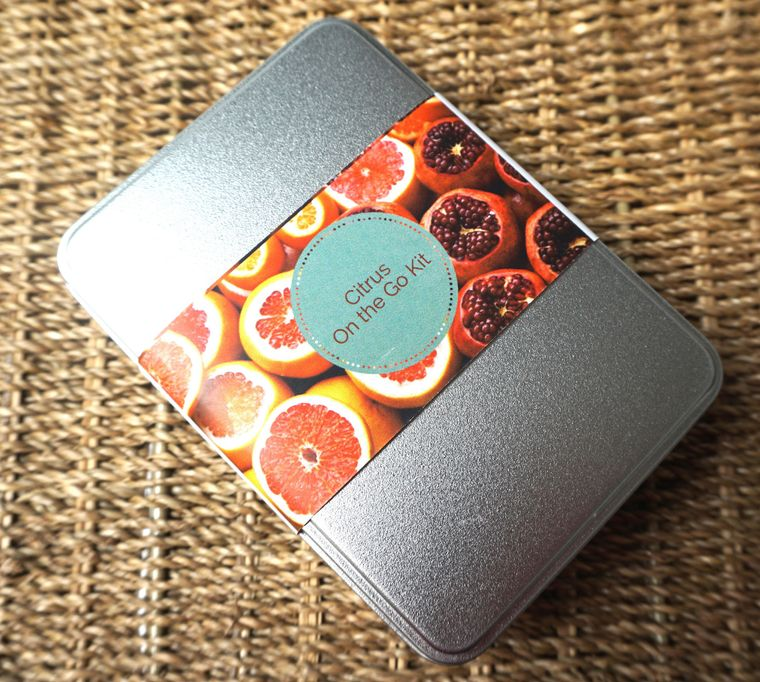 Natural Spa Cosmetics Company Zero Waste Citrus on the Go Tin