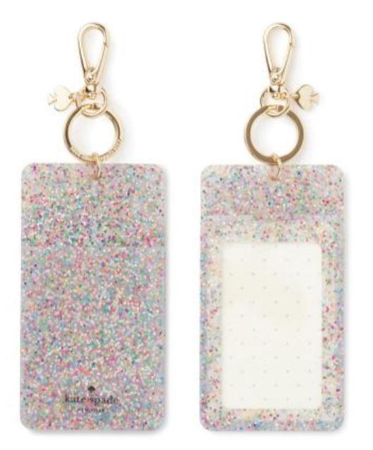 Kate Spade New York Multi Glitter Id Clip - Pursenalities_uk