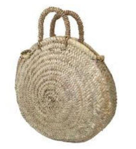 BasketBasket Palm Handle Round Basket