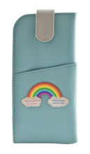 Load image into Gallery viewer, Mala - Turquoise Rainbow Leather Glasses Case