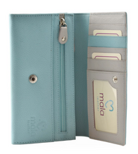 Load image into Gallery viewer, Mala - Turquoise Rainbow Flap over Purse with RFID