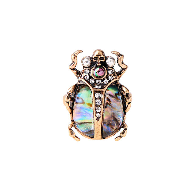 Gemstone Beetle Ring - lionecher
