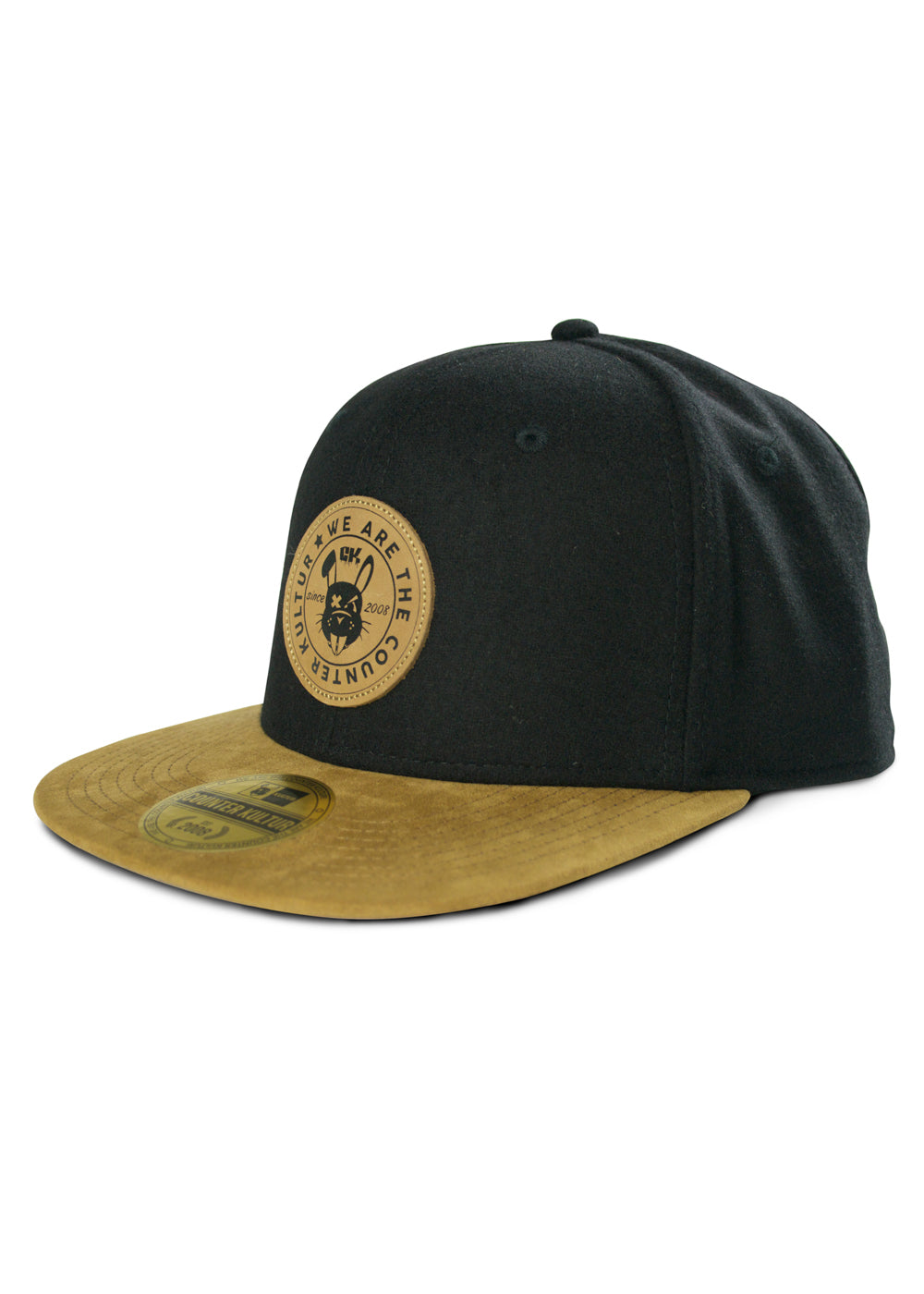 e21ebfe7b7a CK Leather Rabbit Patch Hat - Black Wool. Product image 1 ...