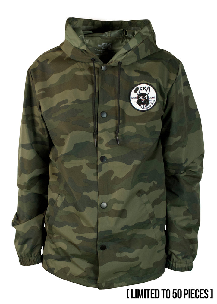 Waterproof Wolfsburg Wolf Camo Jacket - Rabbit Patch