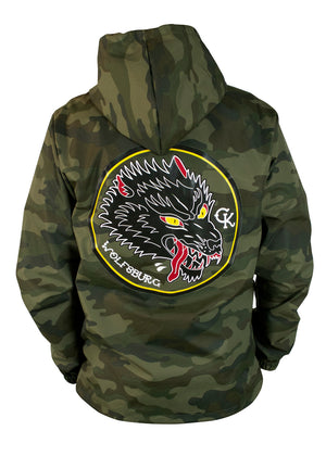 Waterproof Wolfsburg Wolf Camo Jacket - Wolf Patch