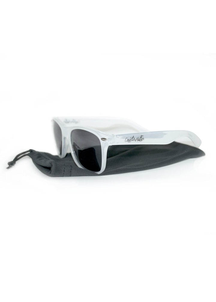 CK Script Frosted Clear Sunglasses