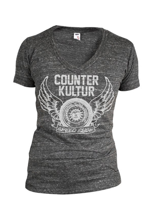 Fly Wheel Ladies V Neck