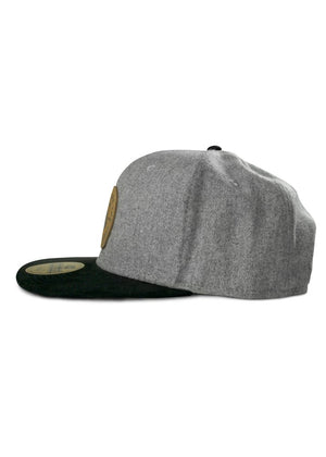 CK Leather Rabbit Patch Hat - Grey Wool