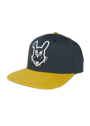 Rabbit Drip Hat - Navy & Mustard