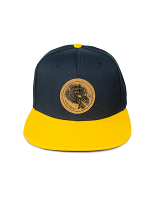 CK Leather Wolfsburg Patch Hat - Navy & Gold