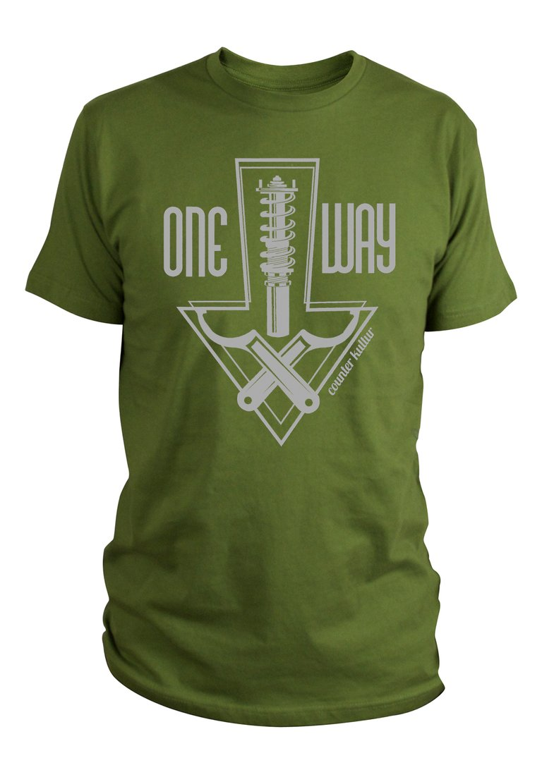 One Way Static Olive Shirt
