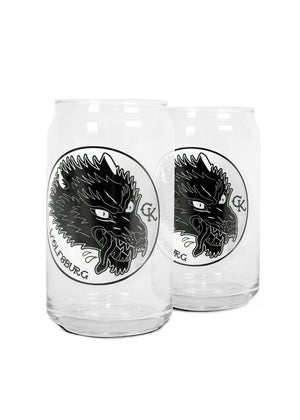 Wolf of Wolfsburg Can Pint Glass