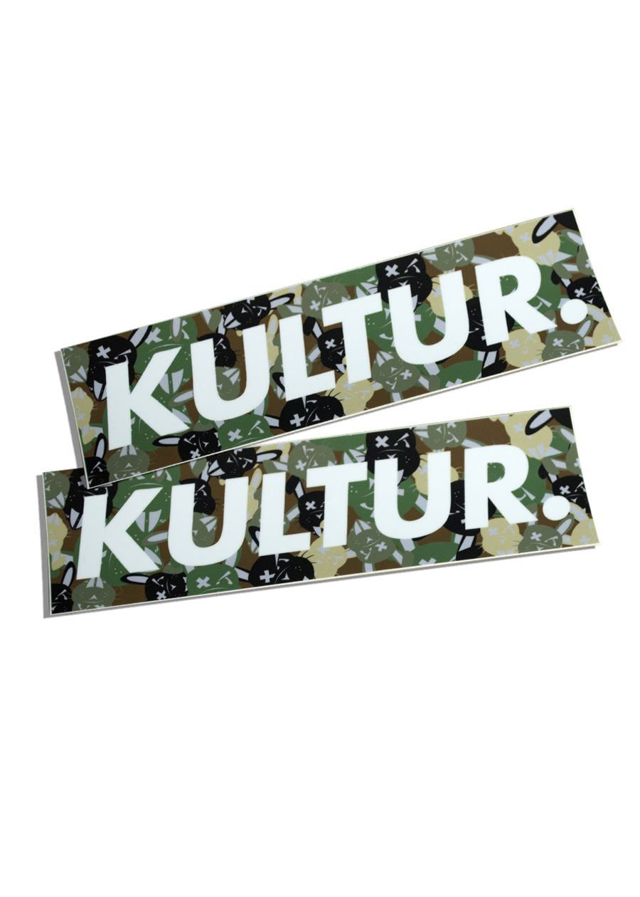 Camo Rabbit Kultur Box Sticker