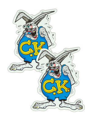 Rabbit Fink Sticker