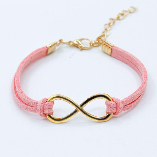 Pink and Gold Infinity Bracelet by Beach City Bling