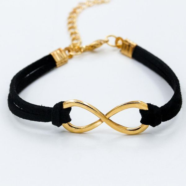 Black and Gold Infinity Bracelet