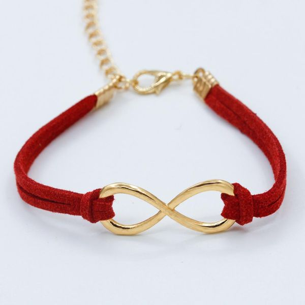 Red and Gold Infinity Bracelet