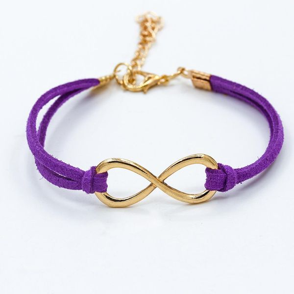 Purple and Gold Infinity Bracelet