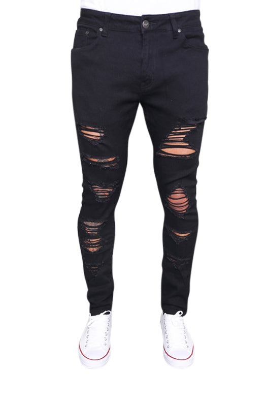 Staple Distraught Jean Black Front