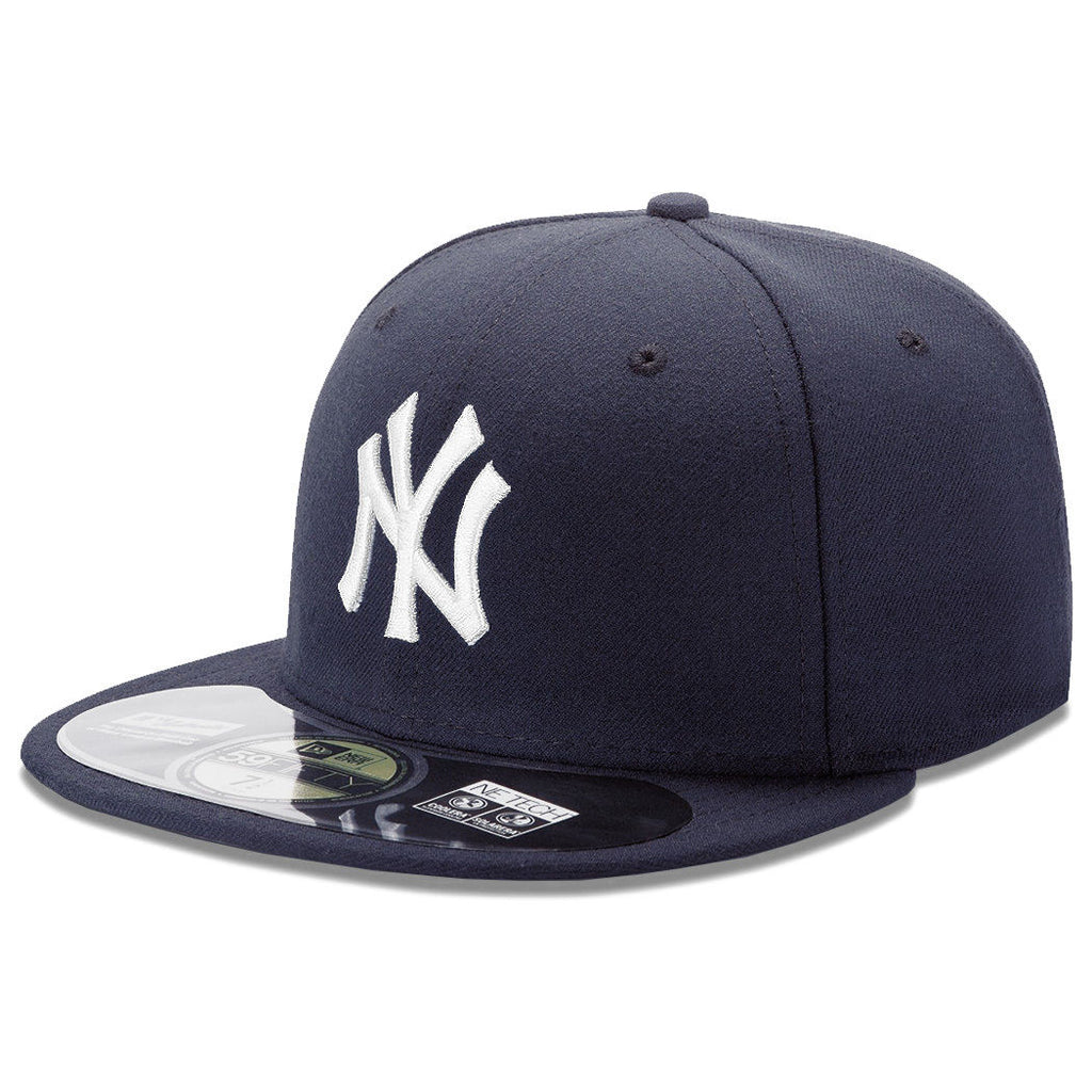 New Era AC New York Yankees Fitted Dark Navy / White Angle