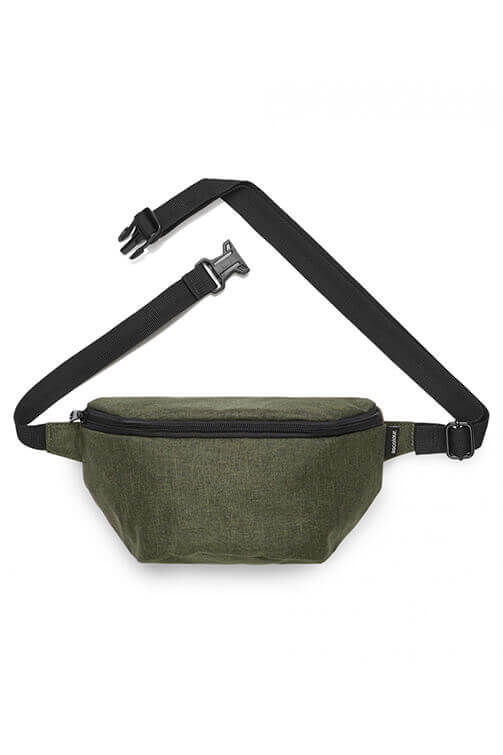 As Colour Waist Contrast Bag Army Thatch Front