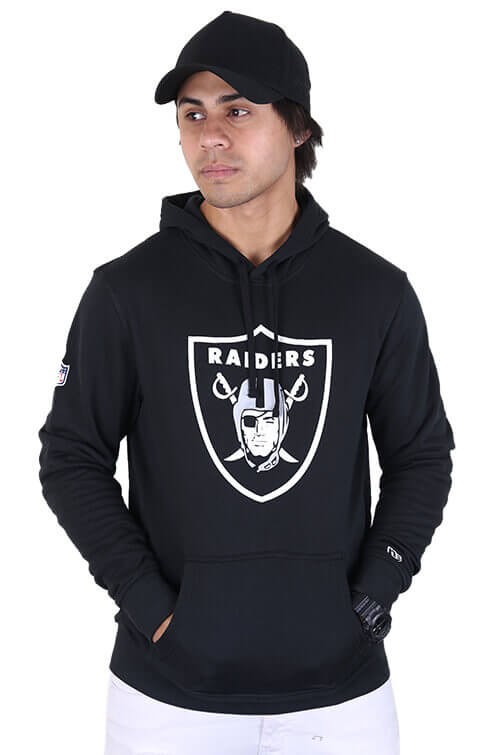 New Era Raiders Team Logo PO Hood Black Front