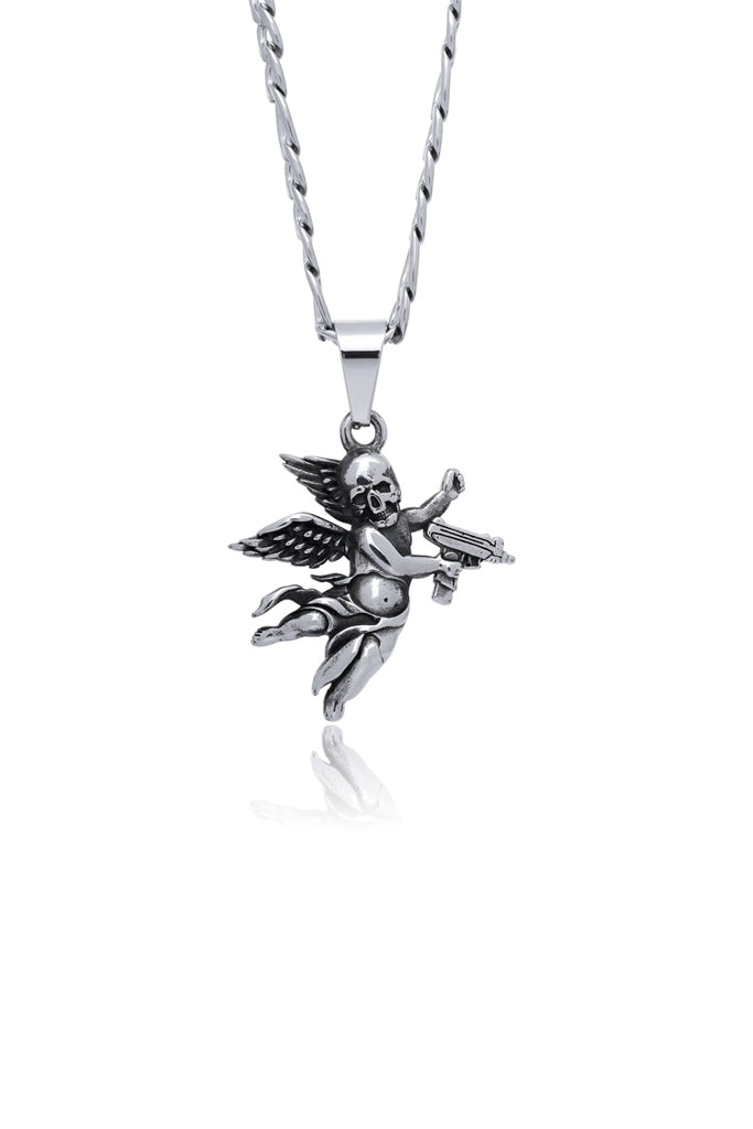 Statement Collective Deaths Cupid Pendant Necklace with 55cm Cable Chain