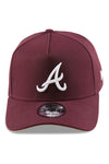New Era 940 A Frame Atlanta Braves Mar V Gold Snapback Front