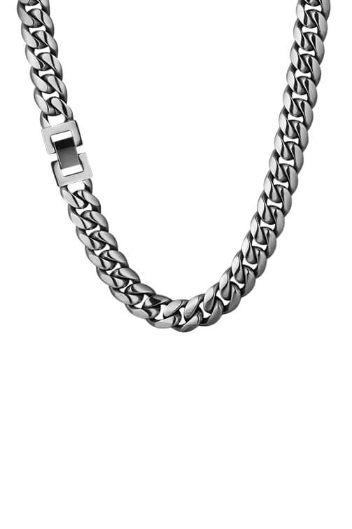 Staple 12mm Stainless Steel Cuban Chain