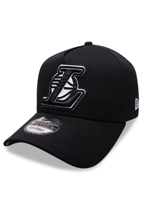 New Era 940 A Frame Lakers Black Grey Snapback Angle