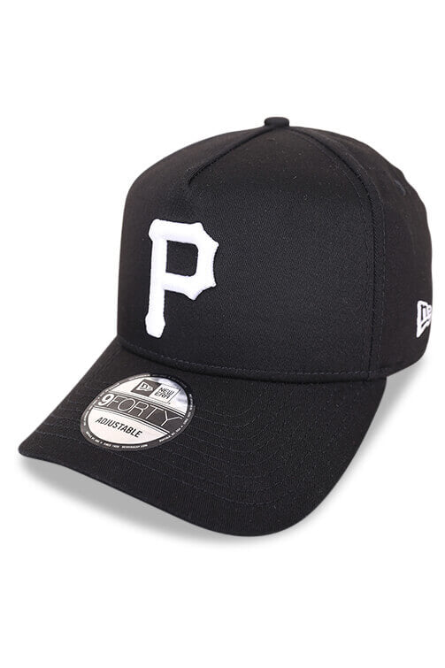 New Era 940 A Frame Pittsburgh Pirates Black/Grey Angle
