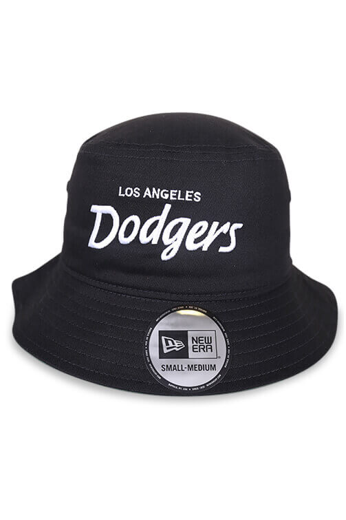 New Era LA Dodgers Retro Black Bucket Front