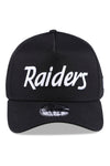 New Era 940 A Frame Raiders Retro Pack Black Snapback Front